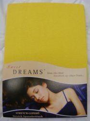 Sweet Dreams jersey gumis lepedő honig 140/160x200 cm