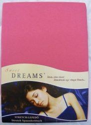 Sweet Dreams jersey gumis lepedő pink 140/160x200 cm