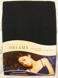 Sweet Dreams jersey gumis lepedő schwarz 140/160x200 cm