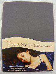 Sweet Dreams jersey gumis lepedő schiefer 140/160x200 cm