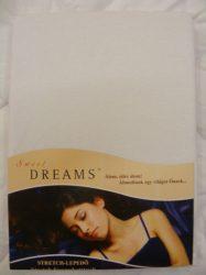 Sweet Dreams jersey gumis lepedő weiss 180/200x200 cm