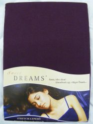 Sweet Dreams jersey gumis lepedő brombeer 180/200x200 cm