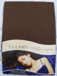 Sweet Dreams jersey gumis lepedő nougat 90/100x200 cm