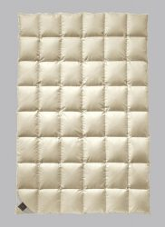 Billerbeck ANDERSEN pehelypaplan, 135x200 cm, Exkluzív 100% pehely töltetű paplan selyem huzattal