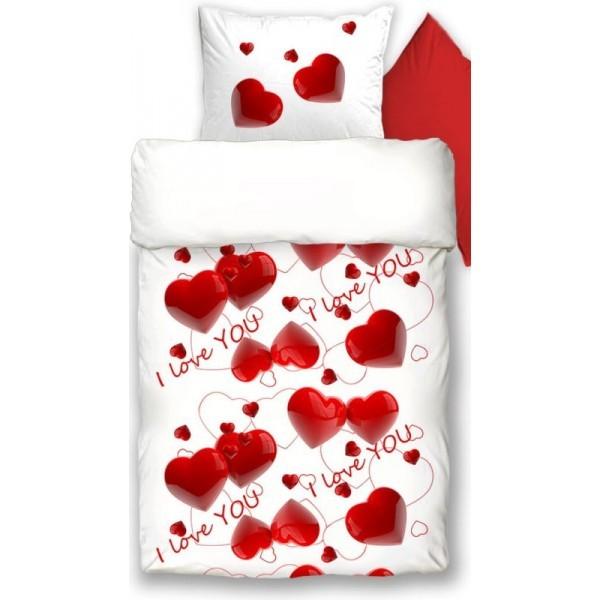 LOVE PIROS pamut szatén 3 részes ágyneműhuzat - Párna f79471a8a3