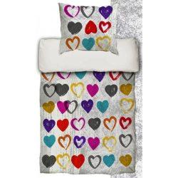 LOVE SZÍNES pamut szatén 3 részes ágyneműhuzat