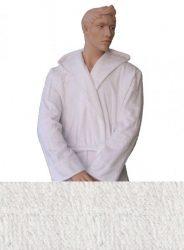 Kapucnis Unisex Frottír Köntös Fehér színű   L