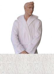 Kapucnis Unisex Frottír Köntös Fehér színű   M