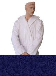 Kapucnis Unisex Frottír Köntös Kék színű   M