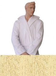 Kapucnis Unisex Frottír Köntös Krém színű   XL