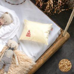 Prána bio TÖNKÖLYPÁRNA, gyerek párna pamut huzattal, 25x30 cm kispárna
