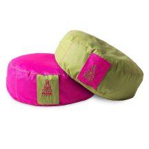 Prána, kerek ÜLŐPÁRNA HUZAT, pink+zöld