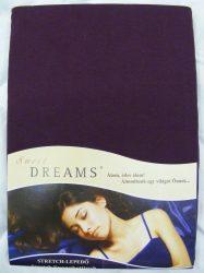 Sweet Dreams jersey gumis lepedő brombeer 140/160x200 cm