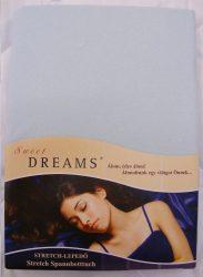 Sweet Dreams jersey gumis lepedő hellblau 140/160x200 cm