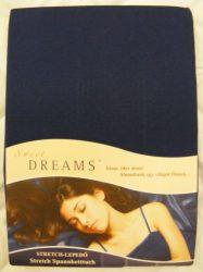 Sweet Dreams jersey gumis lepedő marine 140/160x200 cm