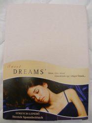 Sweet Dreams jersey gumis lepedő zartrose 140/160x200 cm