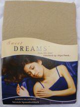 Sweet Dreams jersey gumis lepedő sand 140/160x200 cm