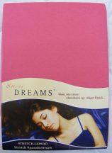 Sweet Dreams jersey gumis lepedő pink 180/200x200 cm