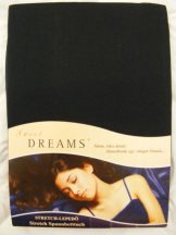 Sweet Dreams jersey gumis lepedő schwarz 180/200x200 cm
