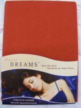 Sweet Dreams jersey gumis lepedő karmin 180/200x220 cm