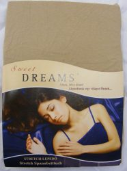 Sweet Dreams jersey gumis lepedő sand 180/200x220 cm