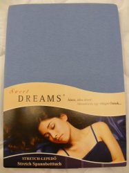 Sweet Dreams jersey gumis lepedő blau 90/100x200 cm