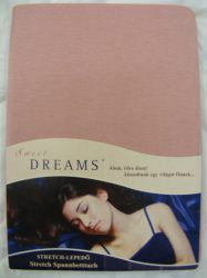 Sweet Dreams jersey gumis lepedő altrosa 90/100x200 cm