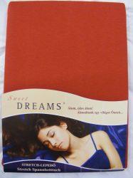 Sweet Dreams jersey gumis lepedő karmin 90/100x200 cm