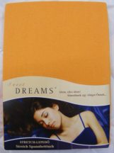 Sweet Dreams jersey gumis lepedő orange 90/100x200 cm