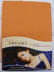 Sweet Dreams jersey gumis lepedő karamel 90/100x200 cm