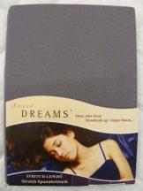 Sweet Dreams jersey gumis lepedő schiefer 90/100x200 cm