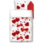 LOVE PIROS pamut szatén 3 részes ágyneműhuzat