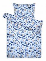 CICA kék gyerek krepp ágynemű garnitúra