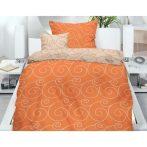 TEKLA narancs dupla ágyneműhuzat, 5 részes narancs-fehér ágynemű garnitúra